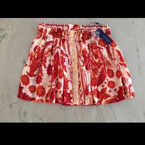 Rebecca Minkoff orange mini skirt